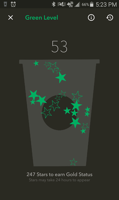 Starbucks Star Count