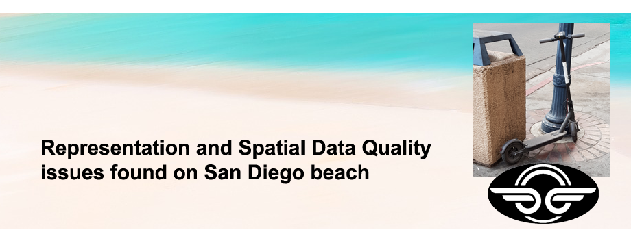 Representation and Spatial Data Quality Issues Found on San Diego Beach